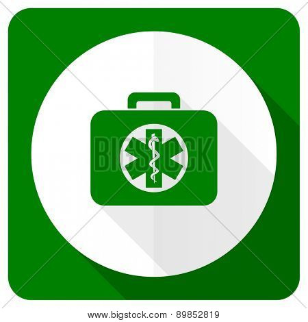 rescue kit flat icon emergency sign