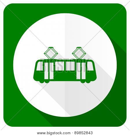 tram flat icon public transport sign