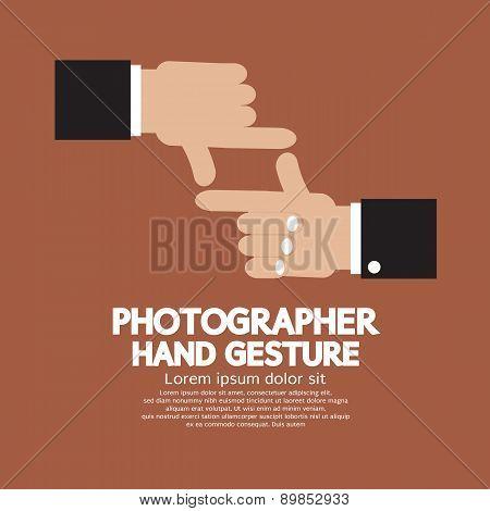 Flat Design Photographer Hand Gesture.