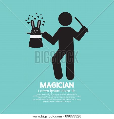 Black Symbol Graphic Of Magician.