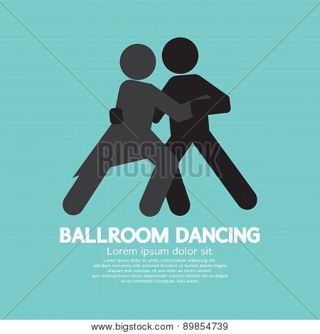 Ballroom Dancing Black Graphic Symbol.