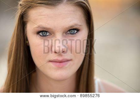 Beautiful Female Photo Of Face.