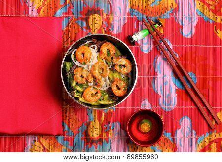Vietnamese Shrimp Pho Soup