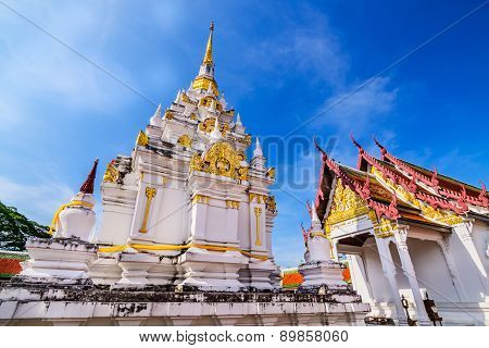Wat Phra Borommathat Chaiya Worawihan, an ancient temple at Chaiya district,Surat Thani province, So