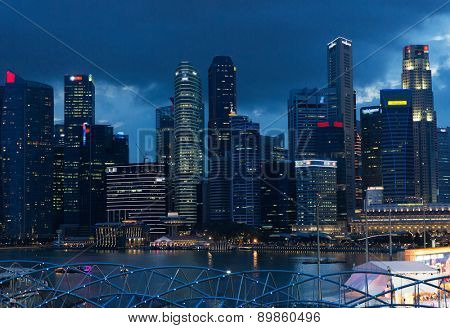 travel, vacation, tourism and luxury concept - beautiful view to bangkok city at night
