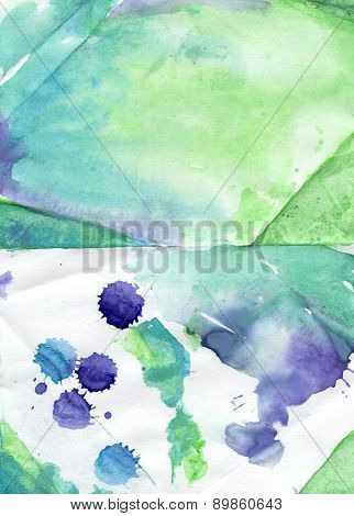 Colorful  Handiwork Aguarelle Painting Backdrop  For Scrapbooking, For Web And Print, For Different
