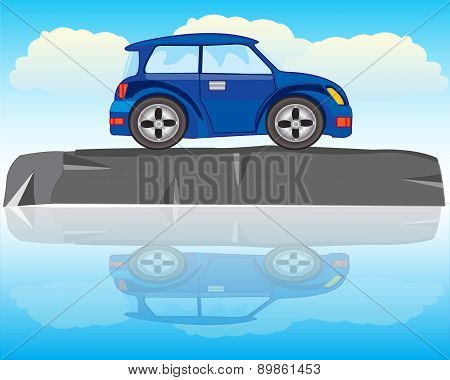 Car On Stone