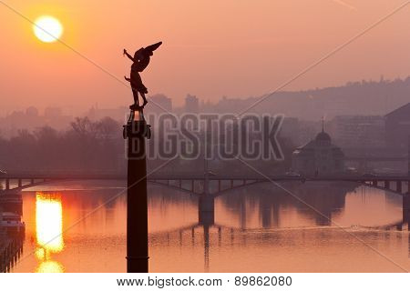 Moldau River, Lesser Town, Prague (unesco), Czech Republic