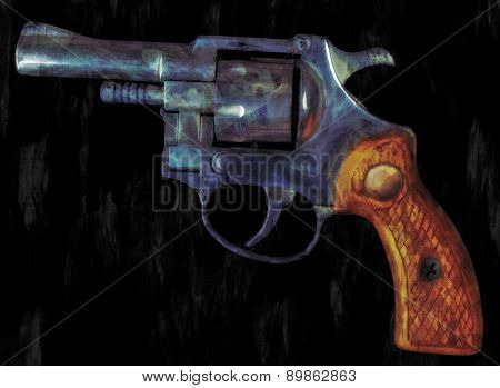 Painting Of A Revolver
