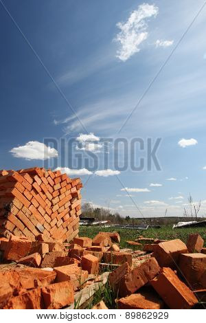 Clay Bricks Stacked.