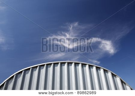 White Industrial Corrugated Metal Wall