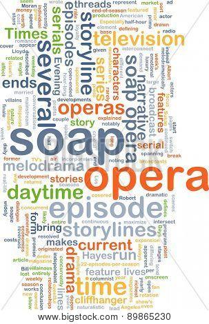 soap opera wordcloud concept illustration