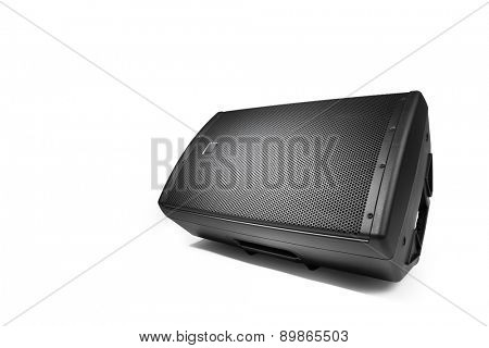 floor audio speaker PA monitor, isolated on white
