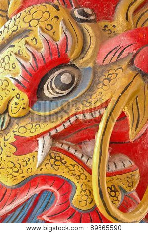 Close-up Face Of Chinese Dragon