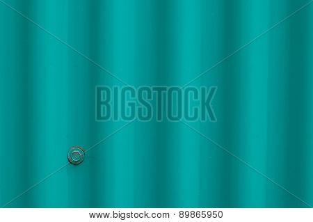 Turquoise Metal Sheet Background
