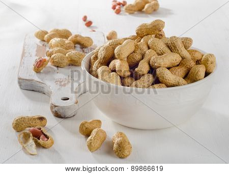Peanuts In Shells In  A Bowl.