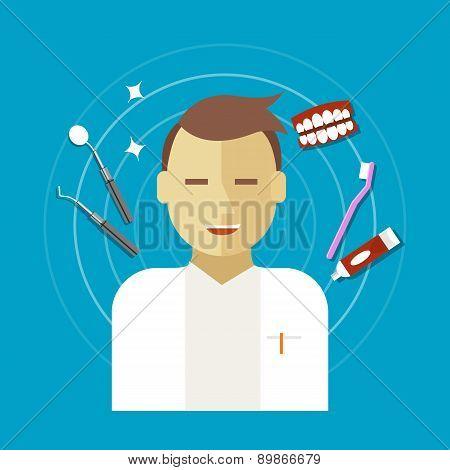 dentist occupation vector illustration