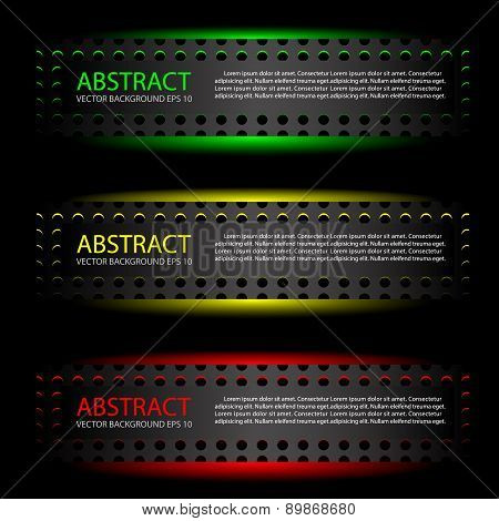 Abstract metal label background