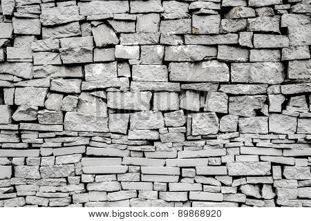 Stone Tile Wall With Shadows