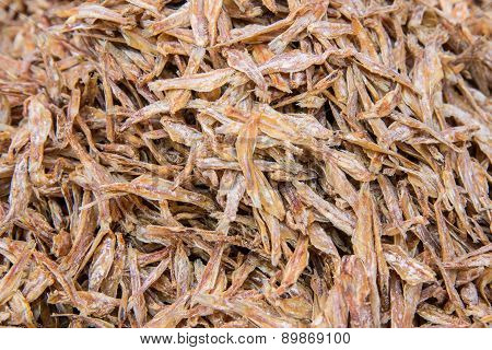 Dried Fish For Sale At Market,thailand