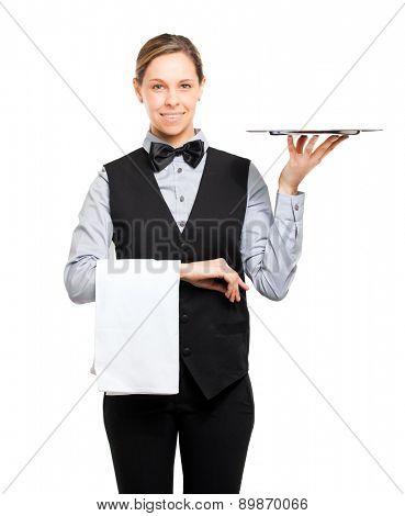 Beautiful waitress portrait