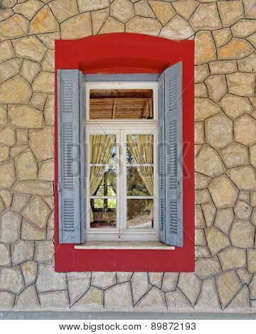 vintage home window Kalavryta Greece