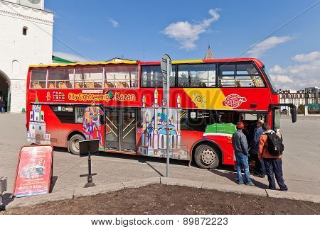 Red City Sightseeing Bus In Kazan City, Russia