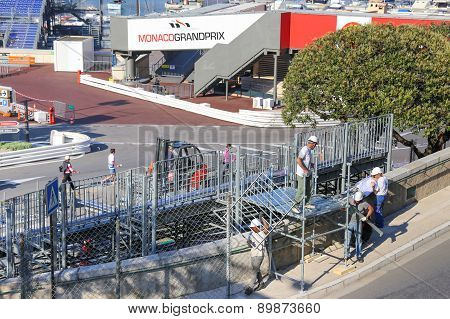 Preparations For The Monaco Grand Prix 2015