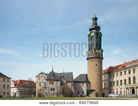 Weimar City Castle, Tower And Bastille, Germany
