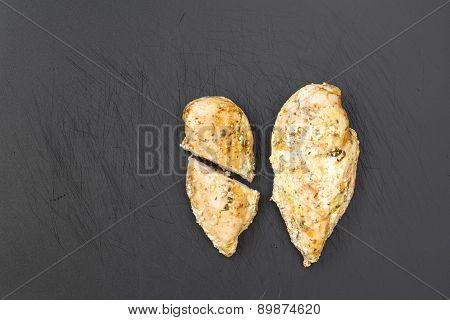 Chicken Breast On Cutting Board.