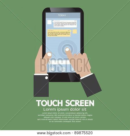 Touch Screen On Smartphone.