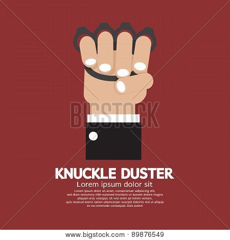 Knuckle Duster In Hand.