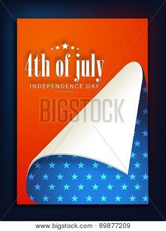 American Independence Day celebration poster, banner or flyer design in national flag colors.