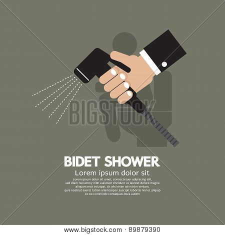 Hand Using A Bidet Shower.