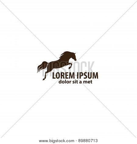 Horse  jumping emblem.