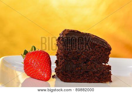 Home Made Chocolate Cake.