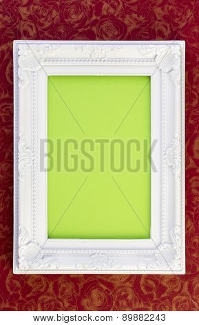 White Frame On Dark Red