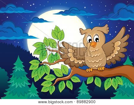 Owl topic image 3 - eps10 vector illustration.