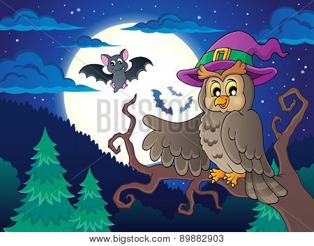 Owl topic image 2 - eps10 vector illustration.