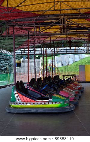Cars In Amusement Park