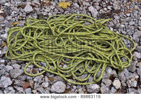 Climbing Rope On Stones