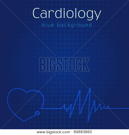 Cardiology blue background