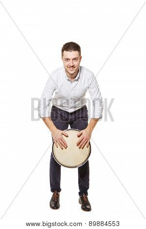 Playing The Djembe Standing