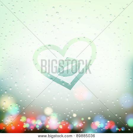 Heart On Glass
