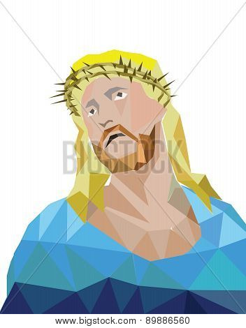 Vector jesus polygon style