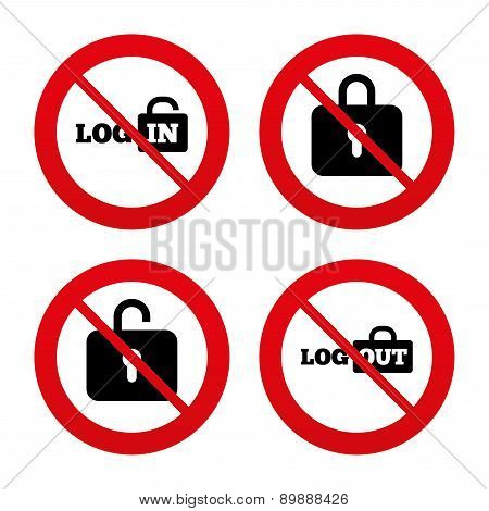 Login and Logout icons. Sign in icon. Locker.