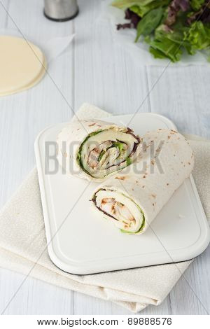 sandwich wrap or tortilla