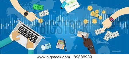 stocks market trading forex currency exchange