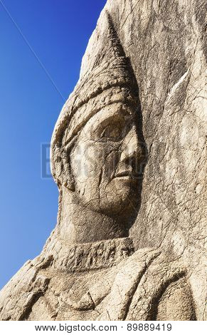 King Mithridates face sculpture
