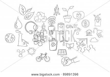 eco green environment friendy icon